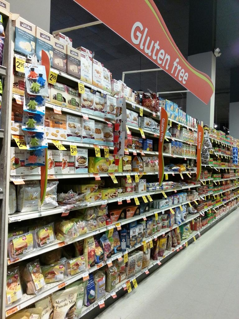 Gluten Free Grocery Aisle